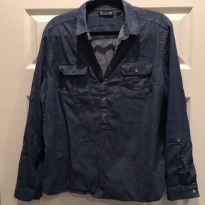 3 for $25 NY&Co Popover Chambray Shirt Blouse